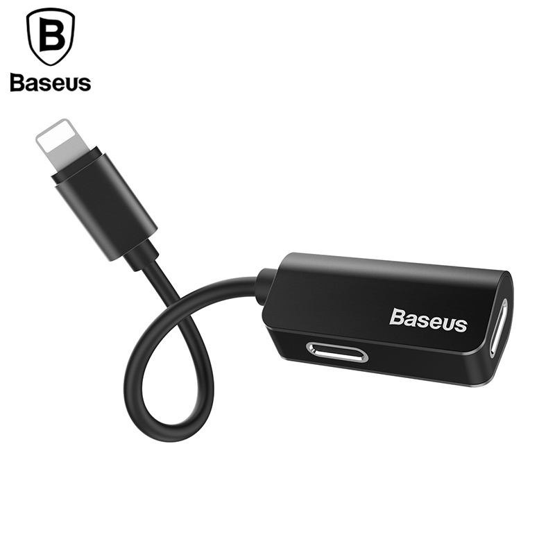 Baseus Aux Audio Cable Adapter For iPhone X 8 7 Earphone Headphone Charging Adapter USB Cable For iPhone 8 7 Plus Splitters baseus genya leather case for iphone 7 plus black