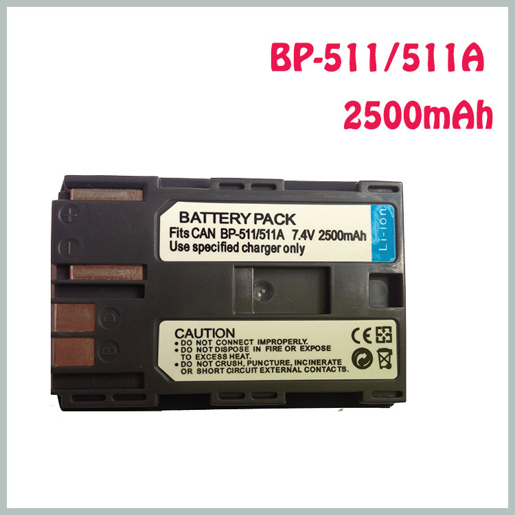 1 unids BP 511 batería de la cámara 18650 para Canon BP