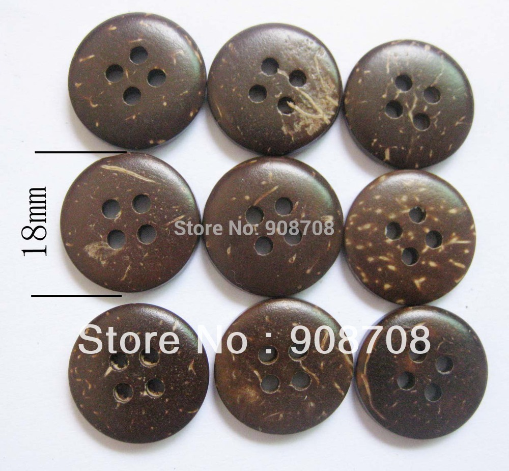 18mm Round coconut shell buttons 50pcs/lot child shirt button garment accessories