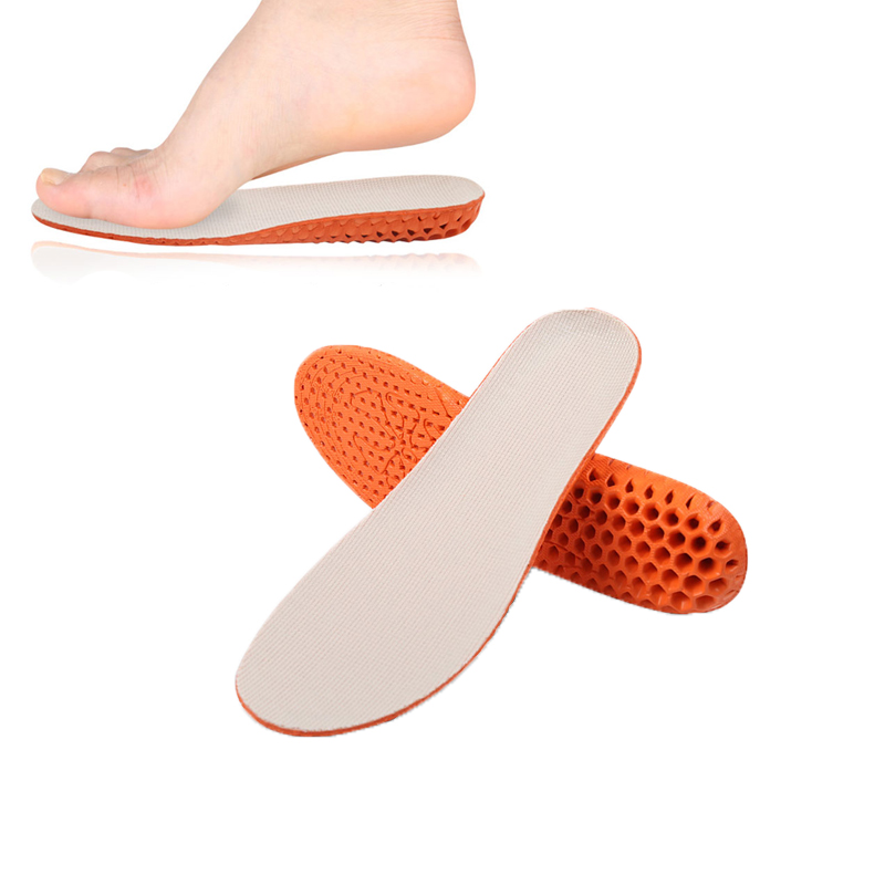 Tcare 1Pair Breathable Honeycomb Height Increase Shoes Insoles for Men Women Reduce Muscular Ache Pain Insert Lift Taller Insole