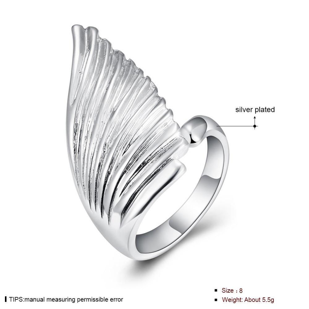 Pojedinačni anđeoski krili protežu se prsten za žene sjajni nakit - Modni nakit - Foto 5