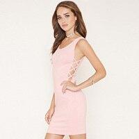 Sexy Club Jurk 2016 Fashion Open Back Bandage Jurk Avondfeest Casual Vrouwen Mini Fashion Kleding Y0611-63C