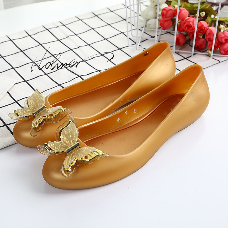 Hohner Melissa Shoes for Women  Cute Gold Bowknot Flat  Jelly Bottom Shallow Shoes Clear Closed Toe Walking Jelly Sandals WomanHohner Melissa Shoes for Women  Cute Gold Bowknot Flat  Jelly Bottom Shallow Shoes Clear Closed Toe Walking Jelly Sandals Woman