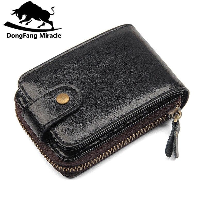 Genuine Leather Card Holder Rfid Credit Card Wallet Women And Men Drivers License Wallet brand Business Card Holder