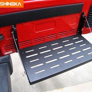 Image 5 - SHINEKA Metal Flexible Tailgate Table Rear Trunk Door Rack Cargo Luggage Holder Carrier Shelf For Jeep Wrangler JK 2007 2017