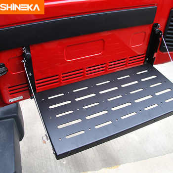 SHINEKA Metal Flexible Tailgate Table Rear Trunk Door Rack Cargo Luggage Holder Carrier Shelf For Jeep Wrangler JK 2007-2017