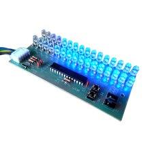 VU Метр Индикатор Уровня Усилитель Доска Двухканальный 16 MCU Регулируемый Дисплей Pattern LED Синий Цвет