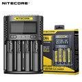 Chargeur de batterie intelligent USB 100% NITECOR UM4 C4 VC4 LCD pour Li ion IMR INR ICR LiFePO4 18650 14500 26650 AA 3.7 1.2V 1.5V|Chargeurs| |  -