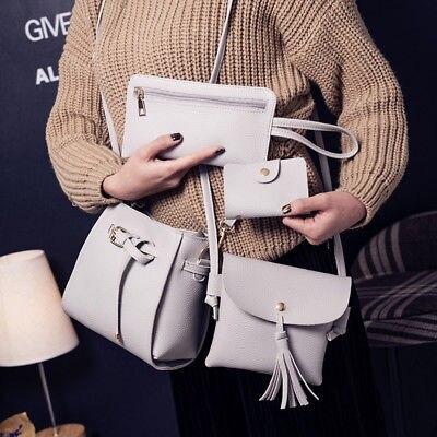 4PCS Women Handbag Shoulder Bag 2017 New Leather Messenger Bag Satchel Tote Purse fashion women handbag shoulder bag leather messenger bag satchel tote purse l228