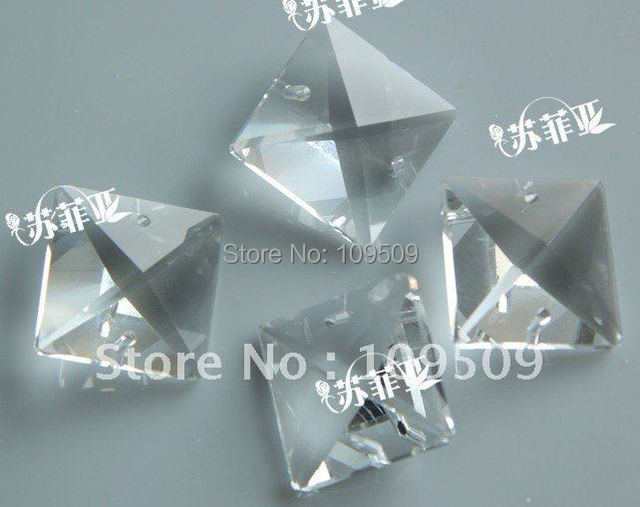 EMS Free Shipping,22 mm Clear Square Crystal Beads Chandelier Parts Jewelry Accessories