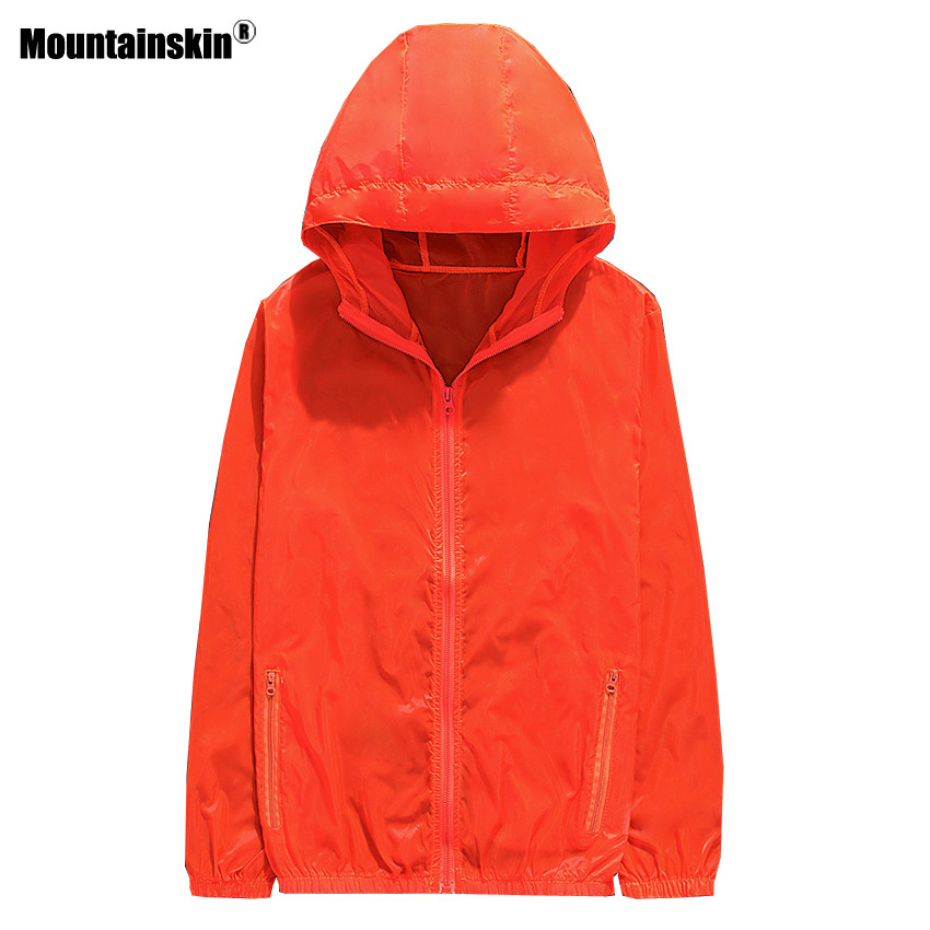 Mountainskin Для Мужчинs Для женщин ветровка Открытый Softshell УФ куртки весна Camping  ...