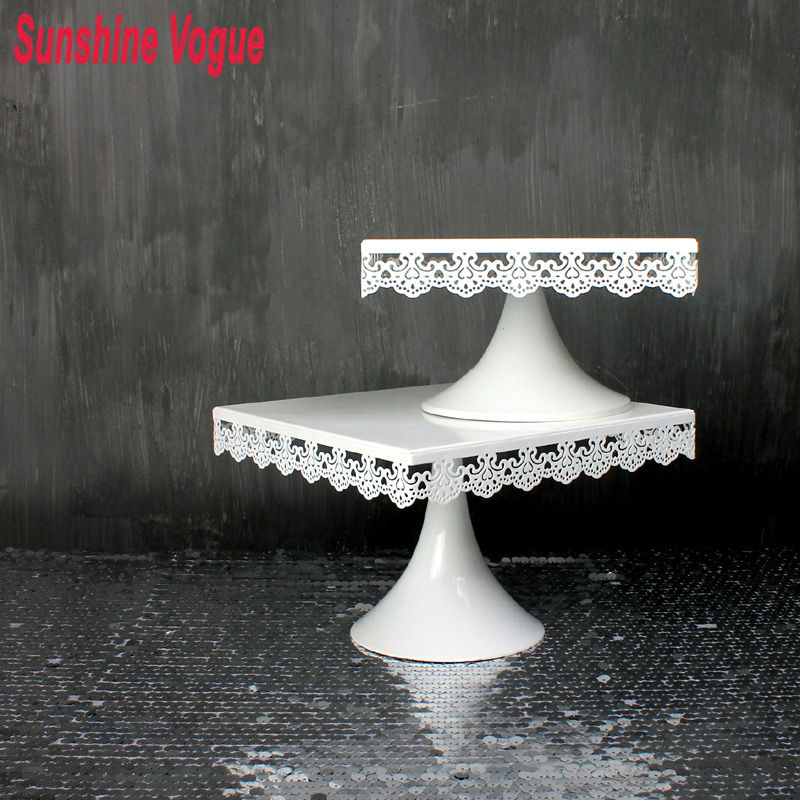 Square Cake Stand Candy Bar Display Wedding Party Table Decoration Supplier Baking Pastry Cake Chocolate