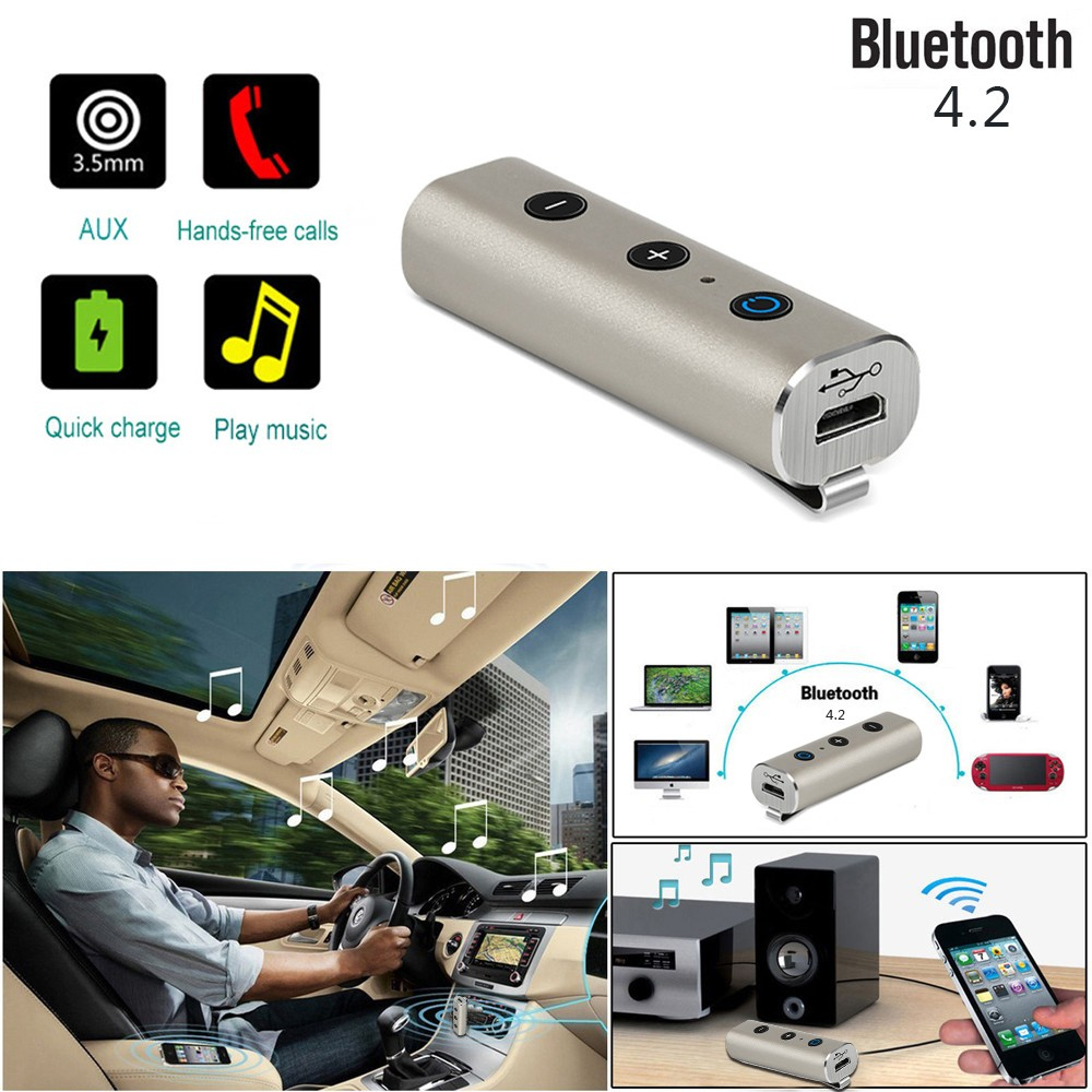 2019 NEW Wireless Bluetooth 3.5mm AUX Audio Stereo Music Home Car Receiver Adapter Mic For Mercedes W212 W210 W203 W124 Benz Amg