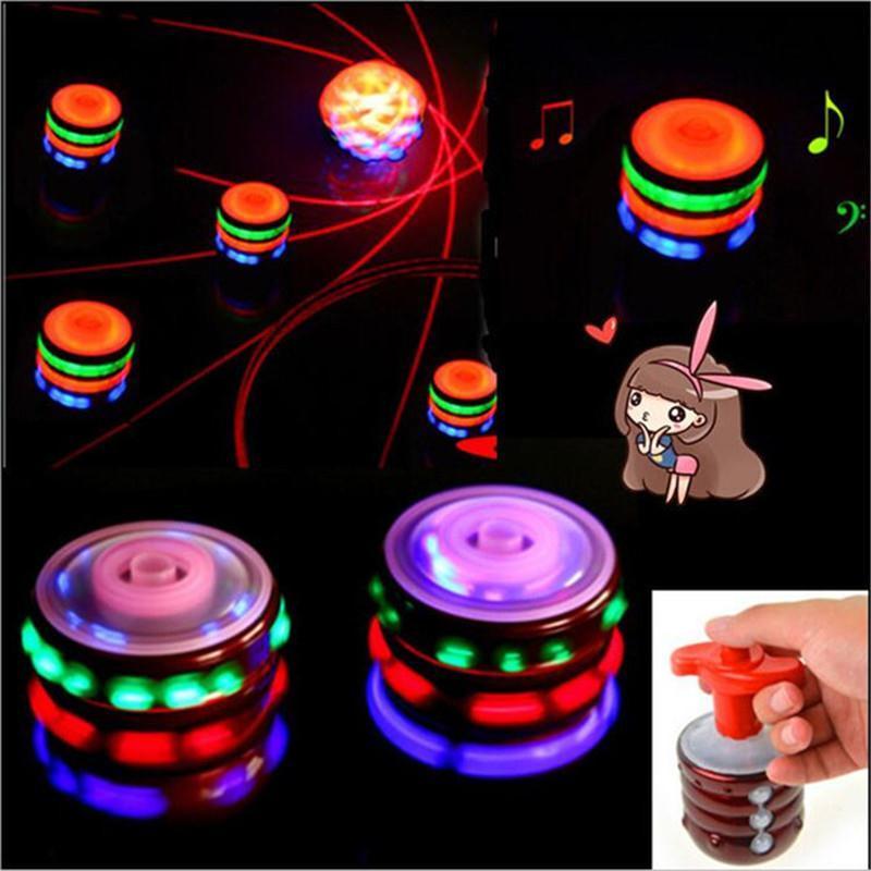 2017 Retro Music LED Fidget Spinner Fidget Toy Flash Light Hand Spinner Finger Spinner Peg Top Spin Spinning Widget Funny Toys