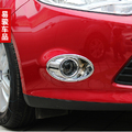 Car front fog lamp frame modified head fog light cover decoration ring For Ford Focus  2012 2013 accessories abs chrome