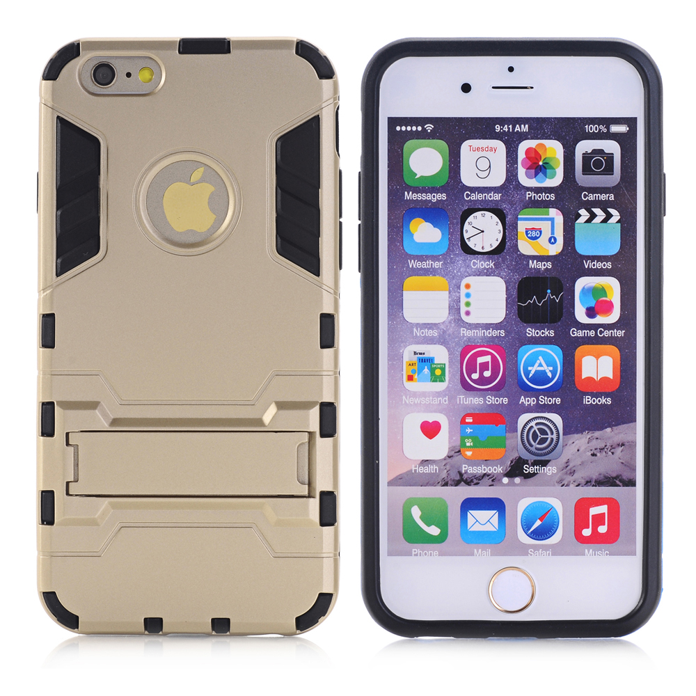 Armor Case for iPhone 6 Plus 6s Plus Heavy Duty Hybrid Hard Soft Rugged Silicone Rubber Phone Cover Coque with Stand Function