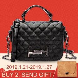 HOWRU Fashion Chains Shoulder Bag Women Soft PU Leather Diamond Plaid Handbags Elegant Ladies Crossbody Messenger Bags for Women