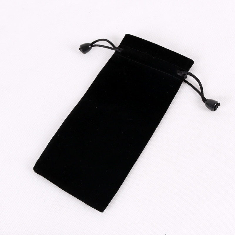 High Quality 100pcs Black 7 5x18cm Drawstring Velvet Bags Pouches Jewelry Bags Christmas Valentines Gifts Bags