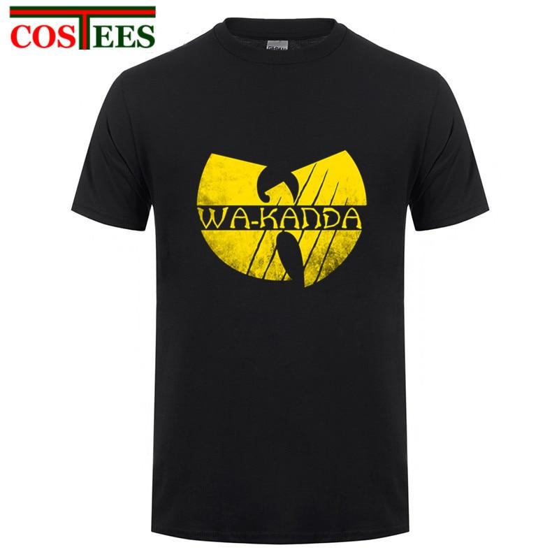Gold Edition Wu Tang дизайн Черная пантера футболка пародия wakanda King супергероя Футб ...