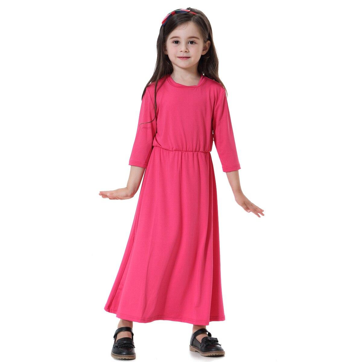 Baby Or Bigs Kids Girls Muslim Dress Traditional Soft Islamic Children Sandi Malaysia Kaftan Abaya School Dresses Summer Clothes
