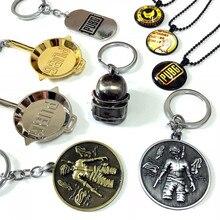 Wholesale Game PUBG PLAYERUNKNOWNs BATTLEGROUNDS Metal Key Buckle Periphery Ornaments Helmet Pan Pendant Suit
