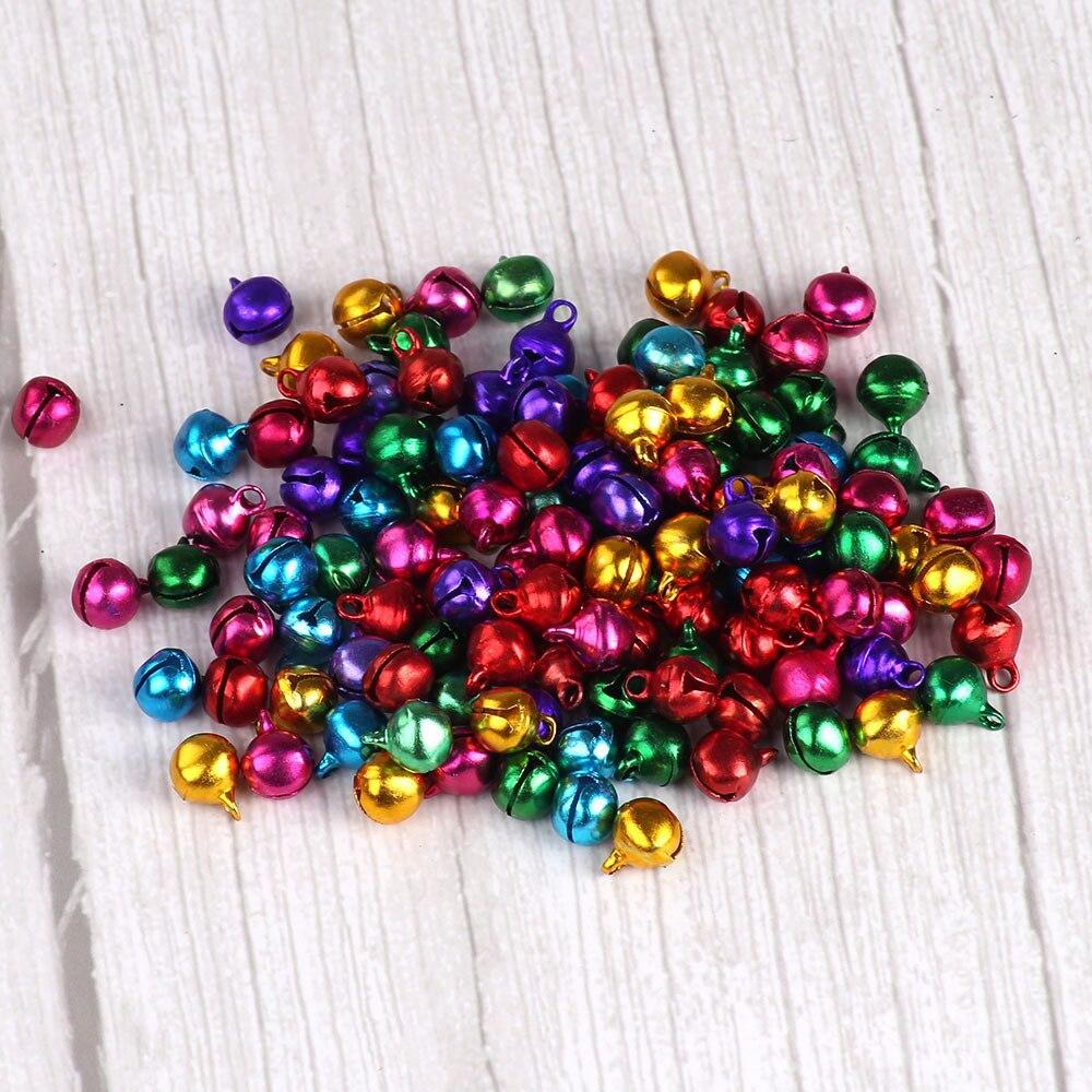 10mm 5000 piezas Jingle campanas Color mezclado campanas para el arte pequeño Festival de Navidad Decoración Accesorios timbre campanellini