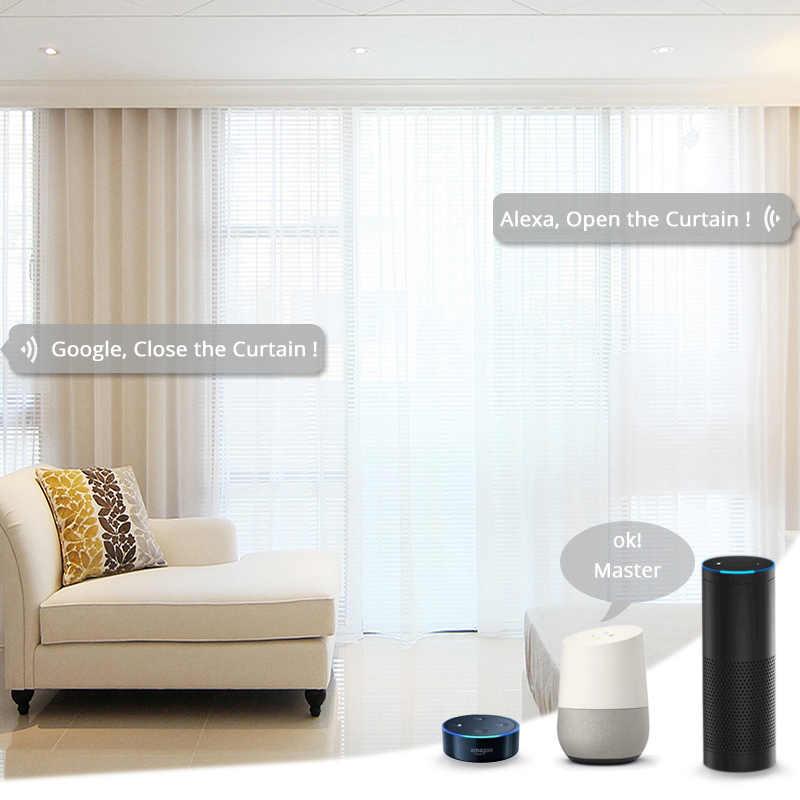 Wifi умный автоматический занавес мотор трек система умный дом моторизованный умный жизнь приложение дистанционное управление работает с Alexa Google Home