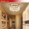 Круглый потолочный светильник в европейском стиле с кристаллами  может быть дистанционным управлением  с затемнением  светодиодные теплые ...