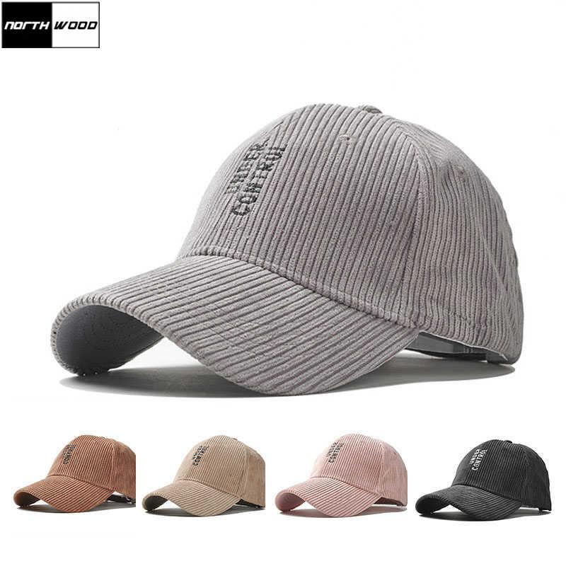 9d8ca349fa6  NORTHWOOD  Fashion Solid Corduroy Baseball Caps For Men Women Hip Hop Hats  Cap Autumn