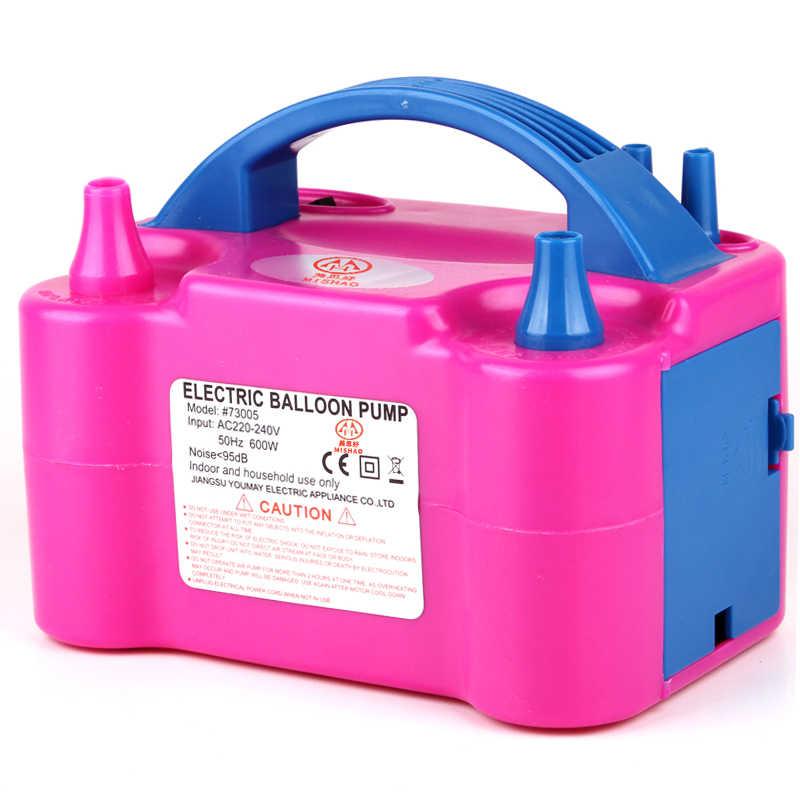 Высокое напряжение двойное отверстие AC надувной электрический воздушный шар насос для накачивания воздушных шаров Электрический воздушный шар надувной насос портативная воздуходувка