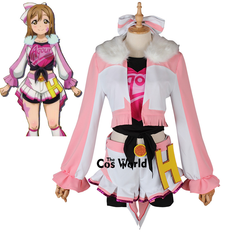 Love Live Sunshine Miracle Wave Kunikida Hanamaru Coat Tops Pants Uniform Outfit Anime Cosplay Costumes