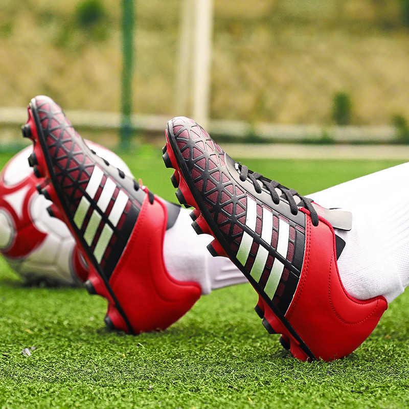 Mannen Boy Kids Voetbal Schoenplaten Turf Voetbal Schoenen Tf Hard Court Sneakers Trainers Nieuwe Ontwerp Voetbal Laarzen