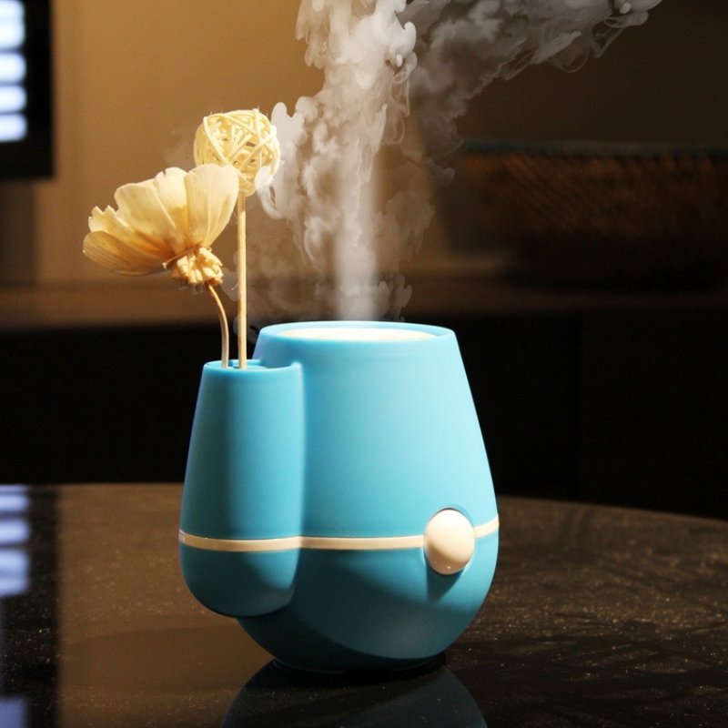 USB Mini vase humidifier Air Ultrasonic Humidifier Aroma Diffuser Mist Maker Water Purification Touch Lamp Essential Diffuser microcomputer intelligent humidifier aroma purification remote control a key touch ultrasonic humidifier