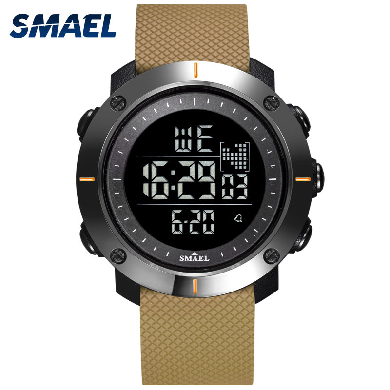 Digital Watches Men Stopwatch With 50M Water Resistant Rubber Bracelet Alarm Back Light Clock 1711 Men Sport Wrist Watch Digital