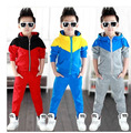 Vetement Garcon New Arrival Zipper Cotton Boys Tracksuit Suit  2-13 Years Ski Boys Girls Children Hoodies Winter Set