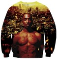 Tie Dye galaxy The Notorious B.I.G. Biggie Smalls 2Pac Tupac Jumper Women Men Fashion harajuku hoodies Tops Sweats Sweatshirts