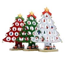 DIY Мини Деревянные Рождественские елки Декор украшения фестиваль вечерние Рождественская елка стол украшение Дети Рождественские подарки