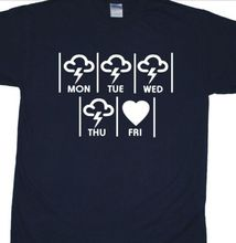 Friday Im In Love T-Shirt inspired by The Cure (Wish, Robert Smith) Mans Unique Cotton Short Sleeves free shipping