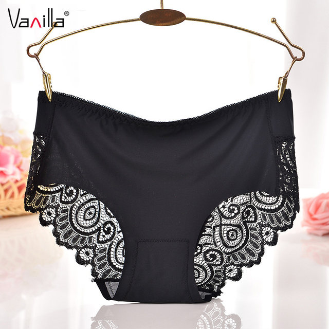 513dc5b2c27 Vanilla Women s Sexy Lace Silk Panties Seamless Panty Briefs Underwear  Intimates Panties Lingerie Pants Luxury Splice Cozy Panty. US  1.59