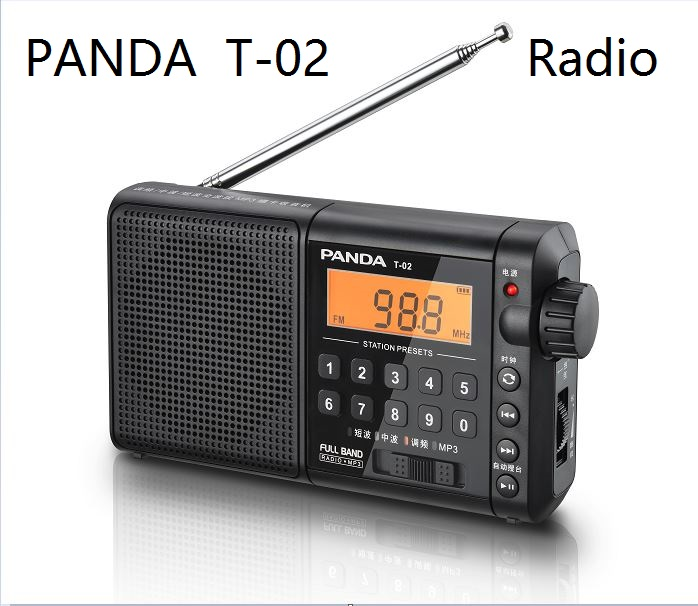 PANDA T 02 Radio All band portable Seniors FM Semiconductor Play MP3 memory function Charging Loud