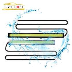 LVTUSI автомобильный-Стайлинг 14 см водонепроницаемый ультра-тонкий COB Чип светодиодный дневной ходовой светильник DIY DRL светодиодный светильн...