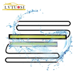 LVTUSI авто-Стайлинг 14 см водонепроницаемый ультра-тонкий чип COB LED дневные ходовые огни DIY DRL светодиодные лампы источник света для автомобиля ...