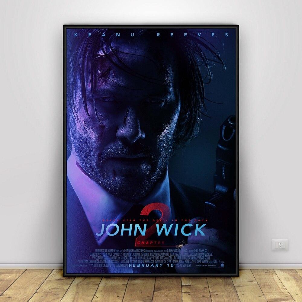 JOHN WICK CHAPTER Art Silk Poster Home Decor 12x18 24x36inch