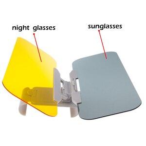 Image 2 - Auto Zonnescherm Dag En Nacht Zonneklep Anti Verblinding Bril Clip On Rijden Voertuig Shield Voor Clear View vizier