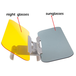 Image 2 - Car Sunshade Day and Night Sun Visor Anti dazzle Goggles Clip on Driving Vehicle Shield for Clear View Visor