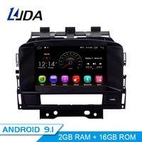 LJDA Android 9.1 Car DVD Player For Buick Verano Vauxhall Opel Astra J GPS Navigation 2 Din Car Radio Multimedia WIFI Stereo SD