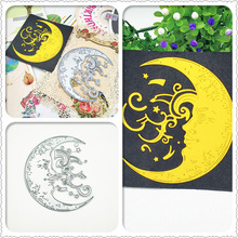 AZSG Smiling Moon Star Cutting Dies For DIY Scrapbooking Decoretive Embossing Decoative Cards Die Cutter