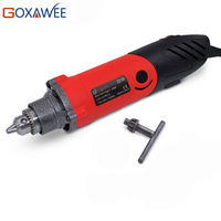 GOXAWEE 240W Big Power Electric Mini Drill Grinder Engraver Rotary Tools Hand Drilling Machine For Dremel Accessories
