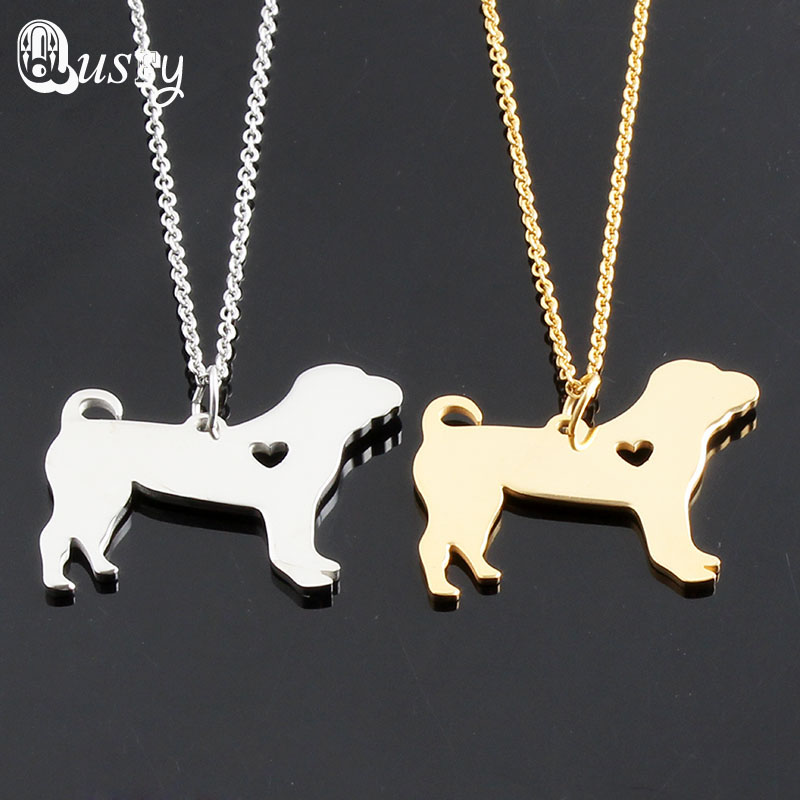 Shar Pei Necklace Stainless Steel animal Dog Greyhound Necklace memorial gift Geometric Jewelry For Animal Lovers Gift nc