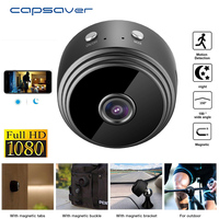 capsaver A9 Mini Camcorder Infrared Camera Home Security Cam Night Vision Wireless WiFi HD 1080P Wide Angle Video Recoder